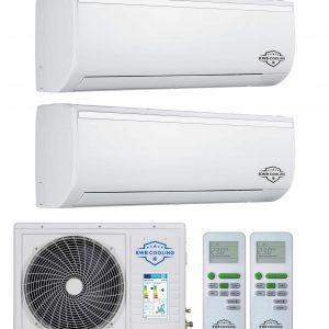 KWB Cooling-18-12-12 Duo R32 inverter set WIFI mogelijk