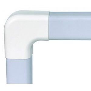 Canalplast Platte bocht ral 9010 wit 70x55mm